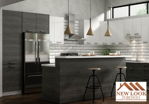 dark wood kitchen cabinets by new look toronto kitchen & bathroom renovations