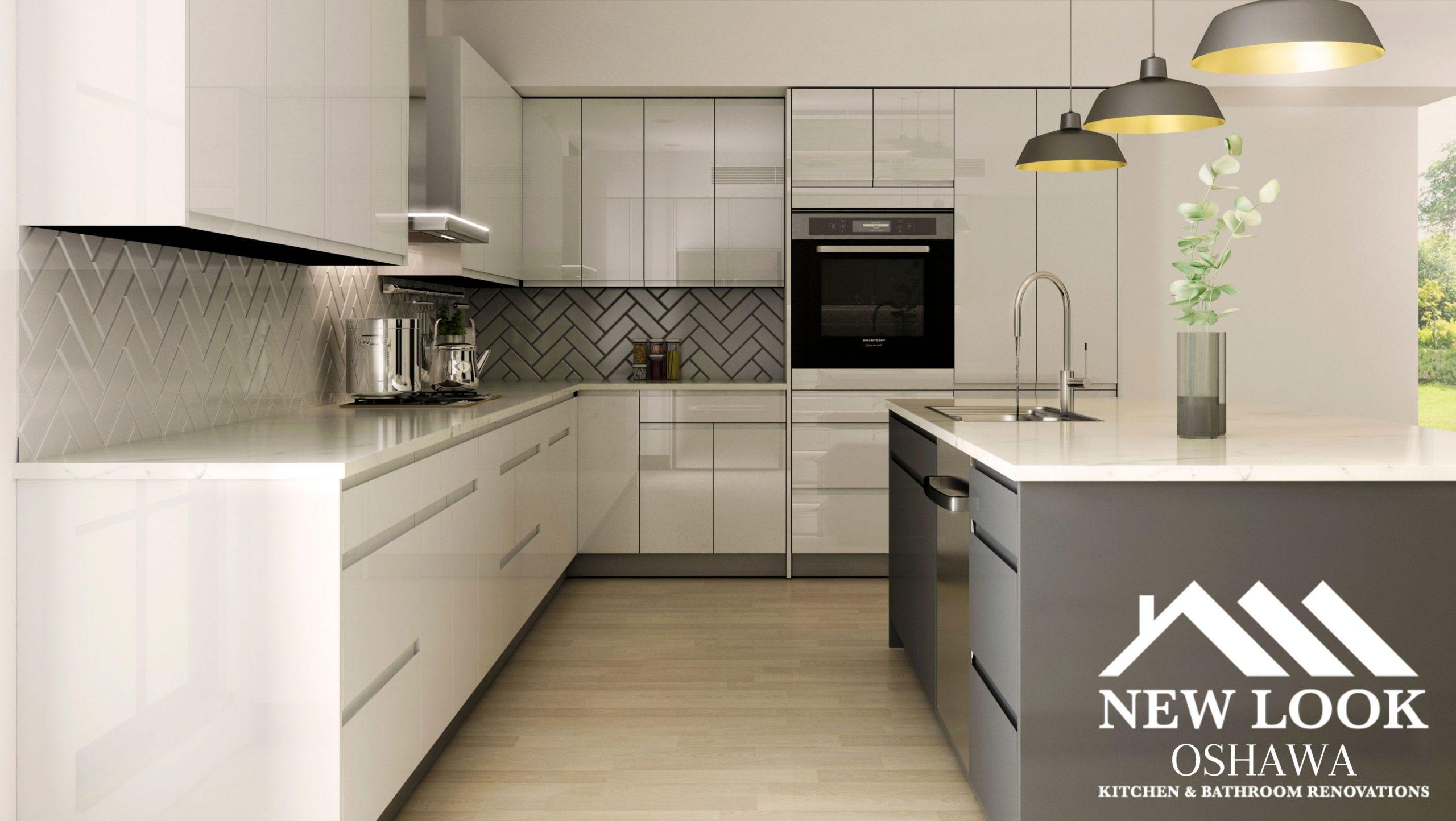 kitchen cabinets by new look oshawa kitchen & bathroom renovations