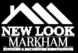 White logo for New Look Markham kitchen & Bathroom Renovations