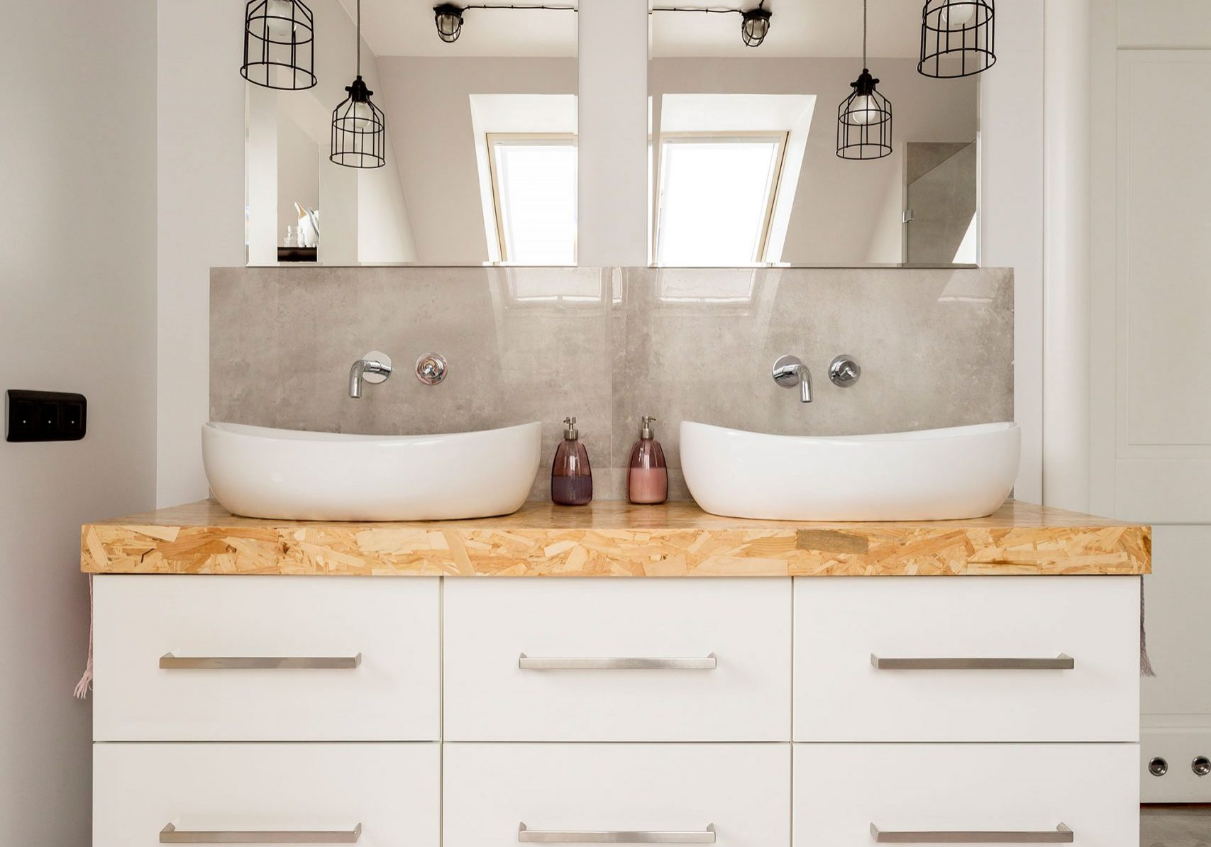 two-sinks-and-cabinet-in-bathroom-PEQDD5A